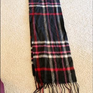 Cashmere black plaid scarf